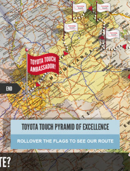 Toyota Touch - routemap